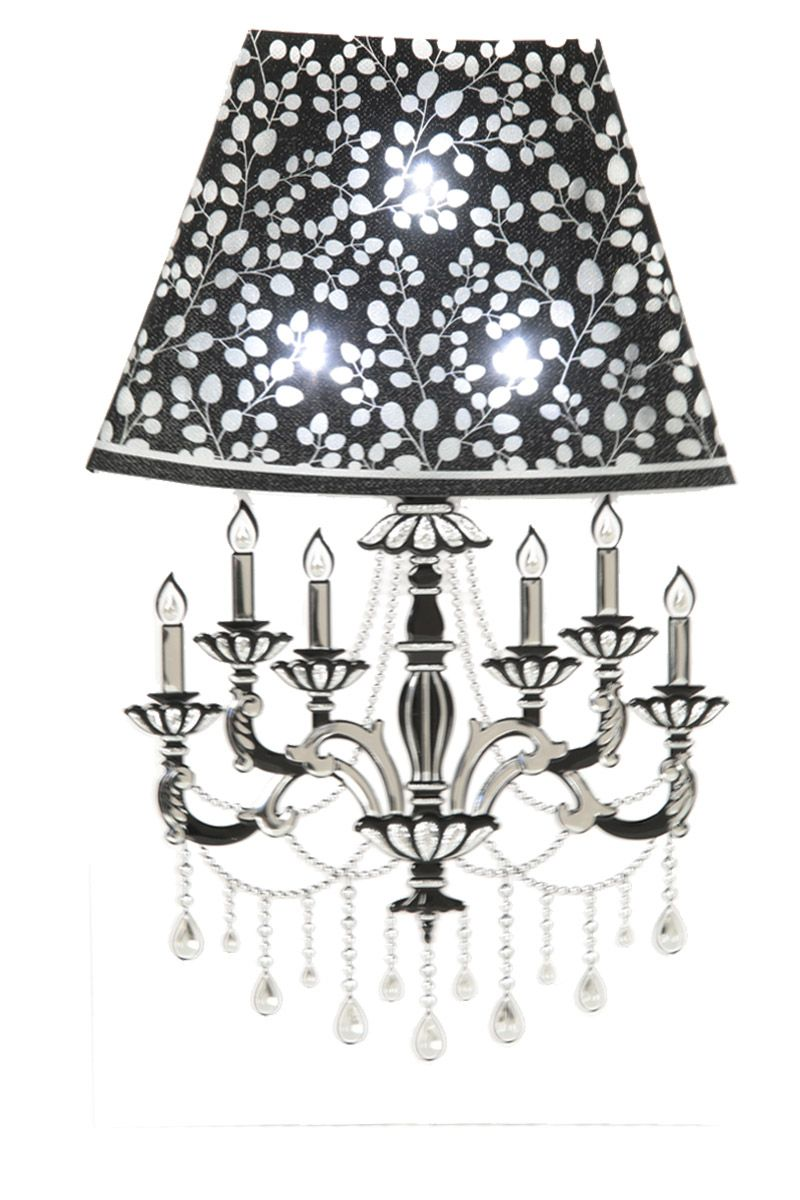 Bedside lamp table lamp 3d wall sticker with led lights oval leaf with candles - Oval wall decor ...