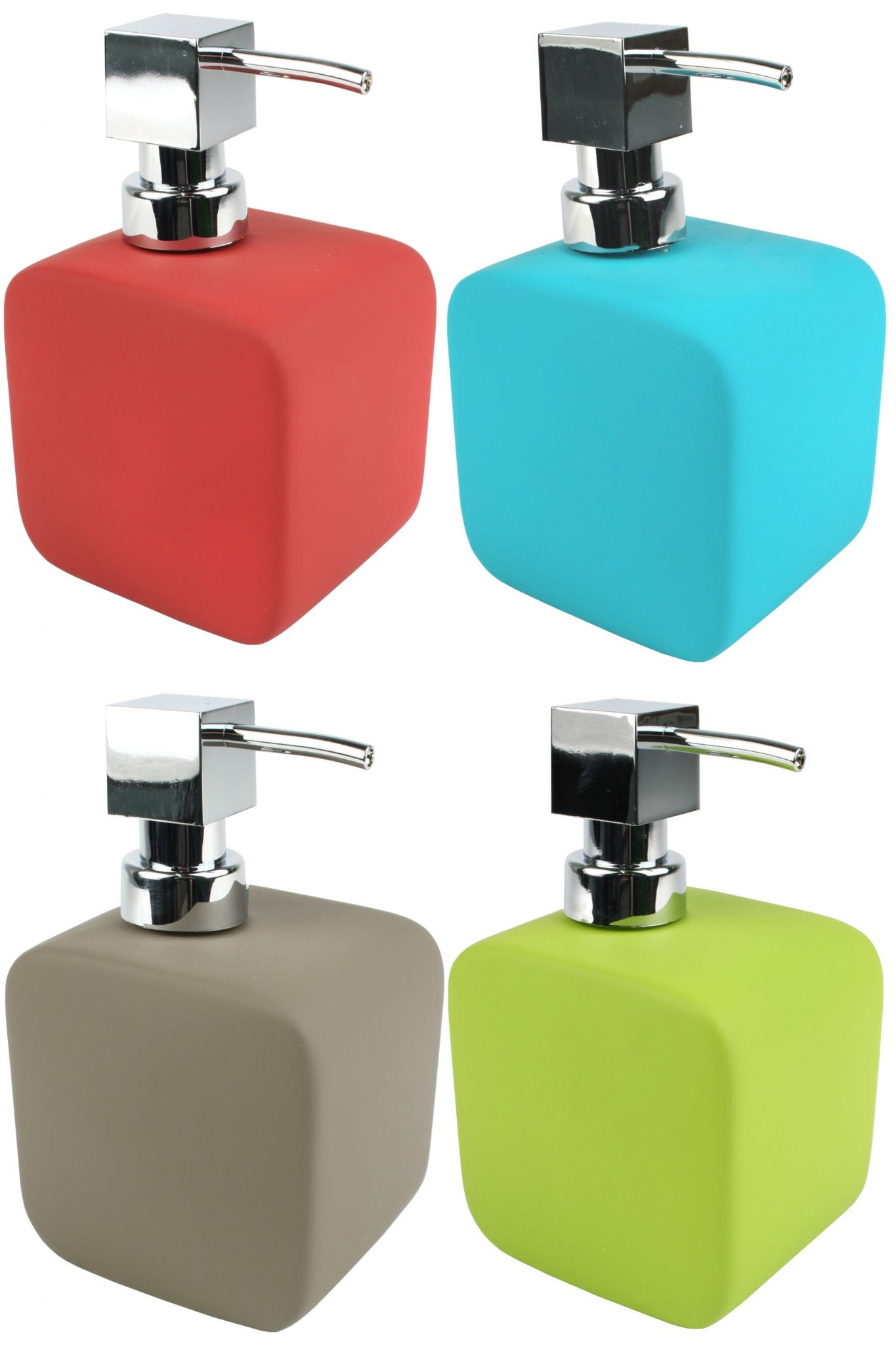 contemporary soft touch soap dispenser square ceramic soap pump -